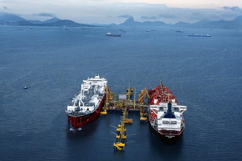 Terminal de regaseificação de GNL da Baía de Guanabara (GNL) / Fonte: Agência Petrobras