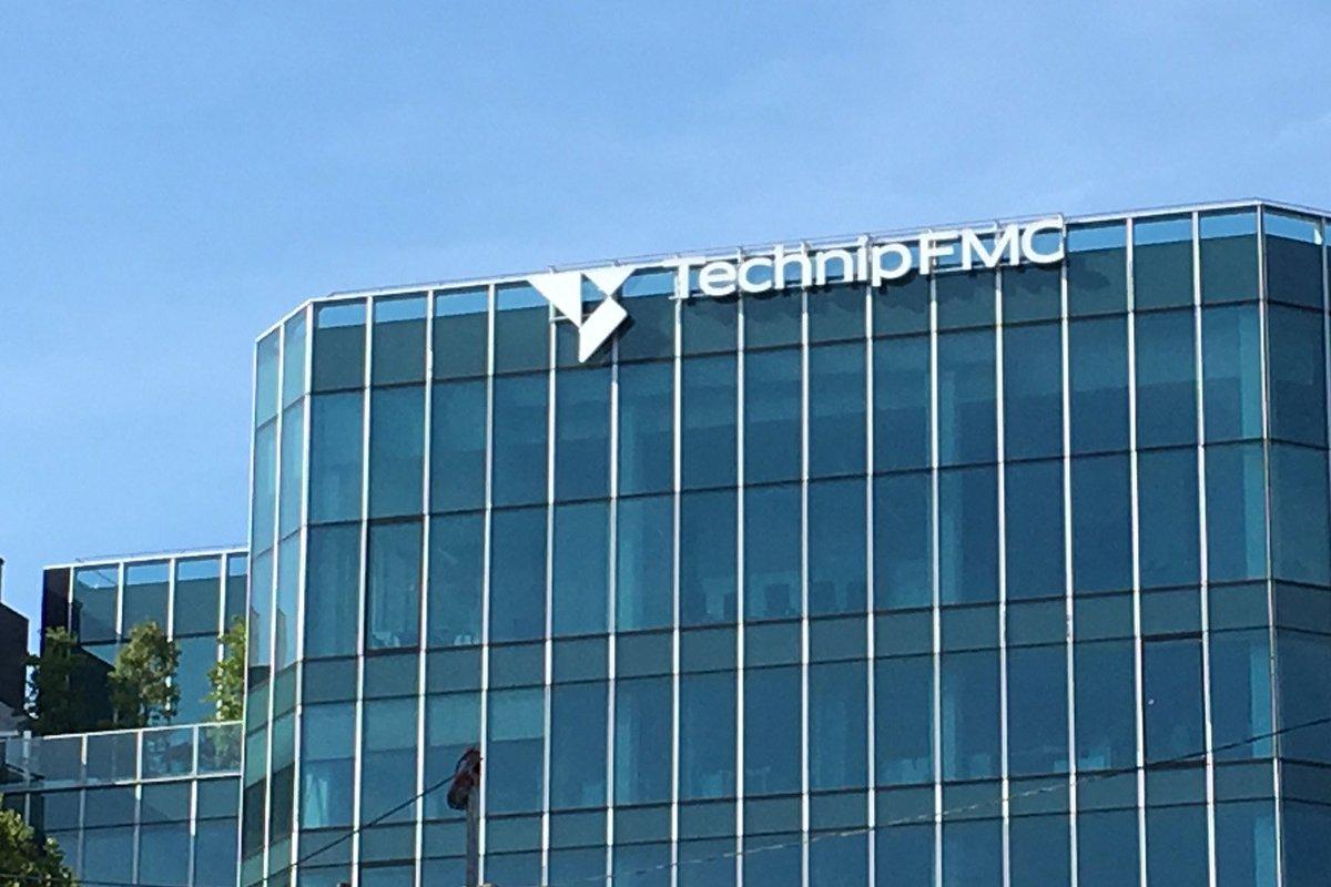 Fachada do prédio da TechnipFMC em Paris (Créditos: Twitter da TechnipFMC)